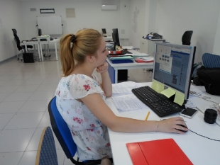 Alicja w pracy w firmie Erasmus Spain